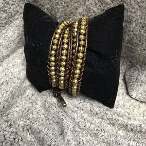 Premier Designs Jewelry It's A Wrap Brown Bracelet